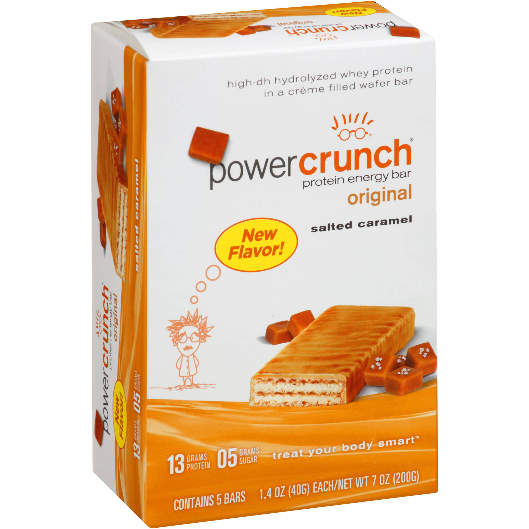 Power Crunch Original Salted Caramel Protein Energy Bars, 1.4 oz, 5 count