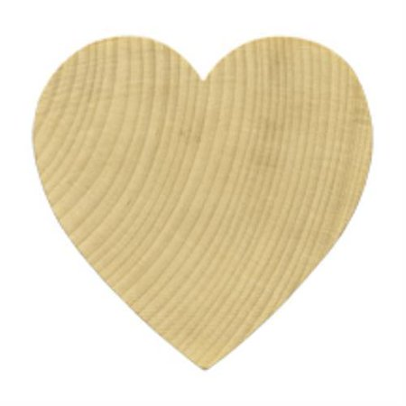 Shape Cut Out - Brand New WH2050-5 Wooden Wood Heart Shape / Cut Out Bag of 5