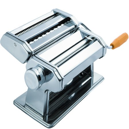 OxGord Pasta Maker Machine - Stainless Steel Roller for Fresh Spaghetti Fettuccine Noodle Hand Crank Cutter Double Cutter Pasta Machine
