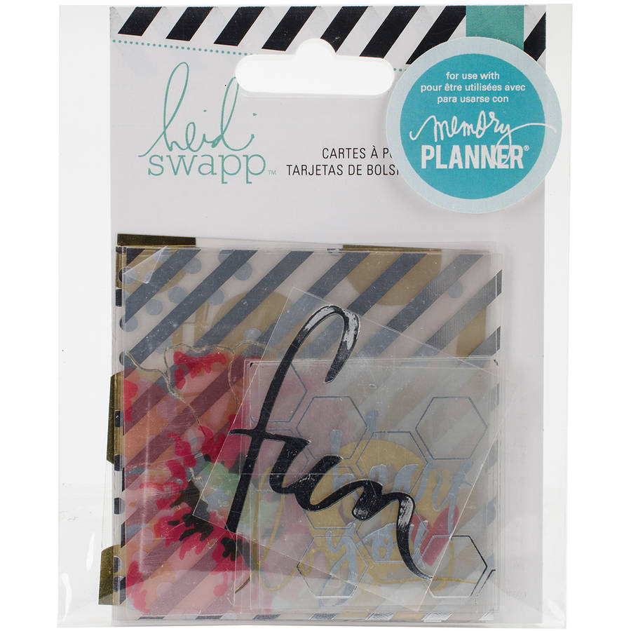 """Heidi Swapp Hello Beautiful Clear Pocket Cards, 12pk, with Foil, 2"""" x 2"""" and 3"""" x 3"""""""