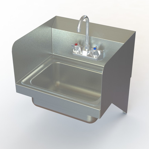 Aero Manufacturing NSF 17'' x 15'' Single Commercial Hand Sink with Faucet