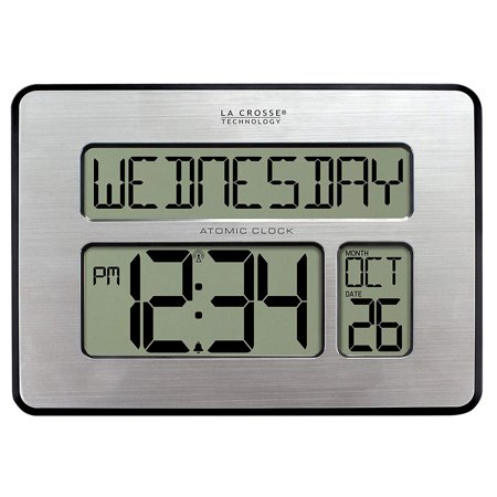513-1419-INT Atomic Full Calendar Clock with Extra Large Digits - Perfect Gift for the Elderly, Extra-Large, easy to read digits to assist those.., By La Crosse