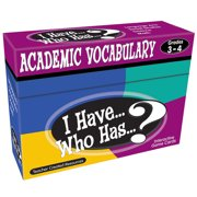 Teacher Created Resources I Have, Who Has Academic Vocabulary Game, Grade 3-4