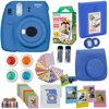 Fujifilm Instax Mini 9 Instant Camera  Cobalt BLUE + Fuji Instax Film Twin Pack (20PK) + Camera Case + Frames + Photo Album + 4 Color Filters And More Top Accessories Bundle Abesons 10 In 1 camera accessories bundle set for the FujiFilm Instax mini 9 Mini 8 and Mini 8+ Instant Camera. From Film to our blue bag to get the most use and fun out of your FujiFilm Instant Camera. It makes a Grate gift for anyone in your life ! these days are hard to find in the age of Instagram and Facebook..