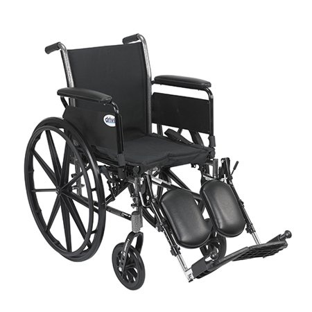 Flip Back Detachable Full Arms - Drive Medical Cruiser Iii Wheelchair 16 Inches Flip Back Detachable Full Arms Elevating Legrest - 1 Ea, K316Dfa-Elr