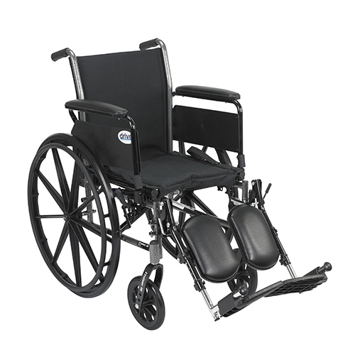 Drive Medical Cruiser Iii Wheelchair 16 Inches Flip Back Detachable Full Arms Elevating Legrest - 1 Ea, K316Dfa-Elr