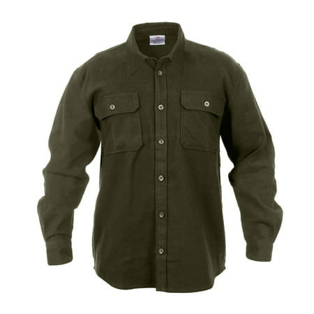 - Extra Heavyweight Brawny Flannel Shirt, Solid Colors