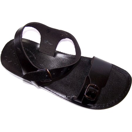b063e218c8084 Holy Land Market Unisex Leather Biblical Sandals (Jesus - Yashua) Jerusalem Black  Style