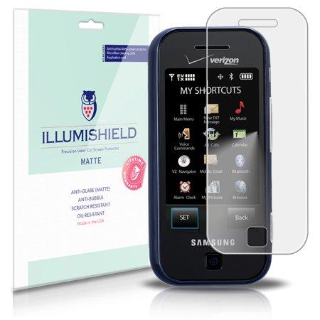 Glyde Phone - iLLumiShield Matte Screen Protector w Anti-Glare/Print 3x for Samsung Glyde