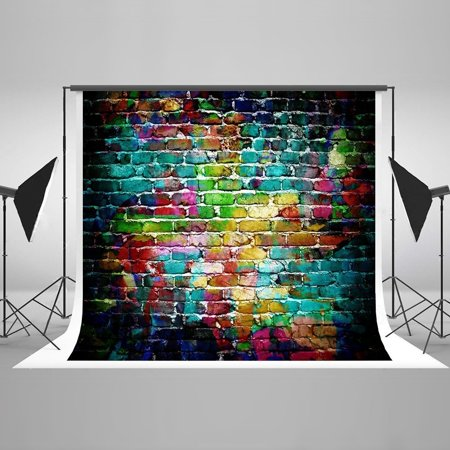 HelloDecor Polyster 5x7ft Colorful Brick Wall Photography Backdrop Newborn Baby Shower Photo Studio Props Floor Backgrounds Kids](Baby Shower Backdrop Rentals)
