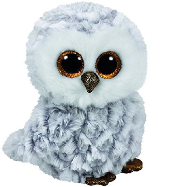 Ty Owlette the Grey Gray and White Owl Beanie Boos Stuffed Animal Plush Toy