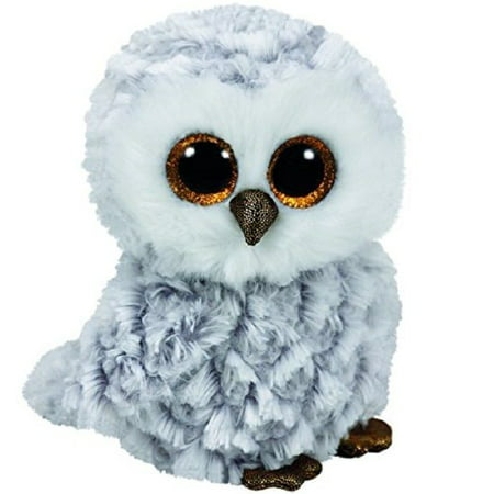 Ty Owlette the Grey Gray and White Owl Beanie Boos Stuffed Animal Plush - Ty Cobb Memorabilia