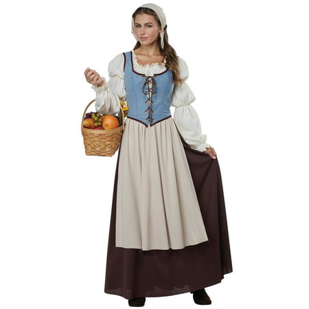 Renaissance Peasant Girl Adult - Renaissance Costume For Boys