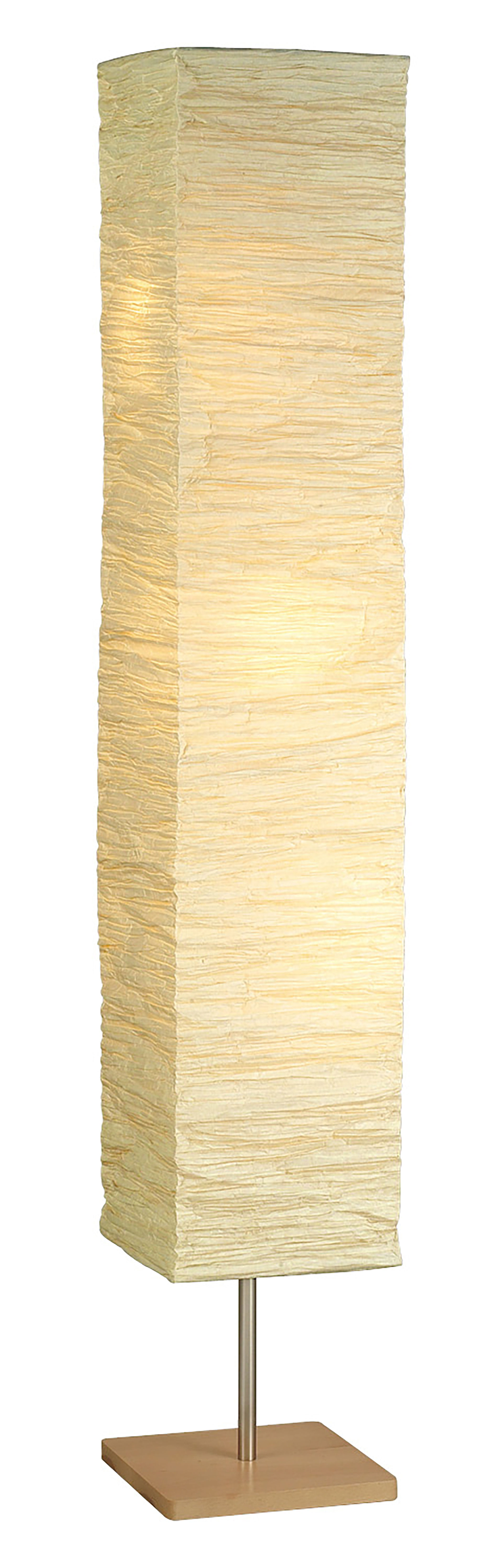 Adesso Dune Floorchiere®, Natural Rubber Wood,Steel accents