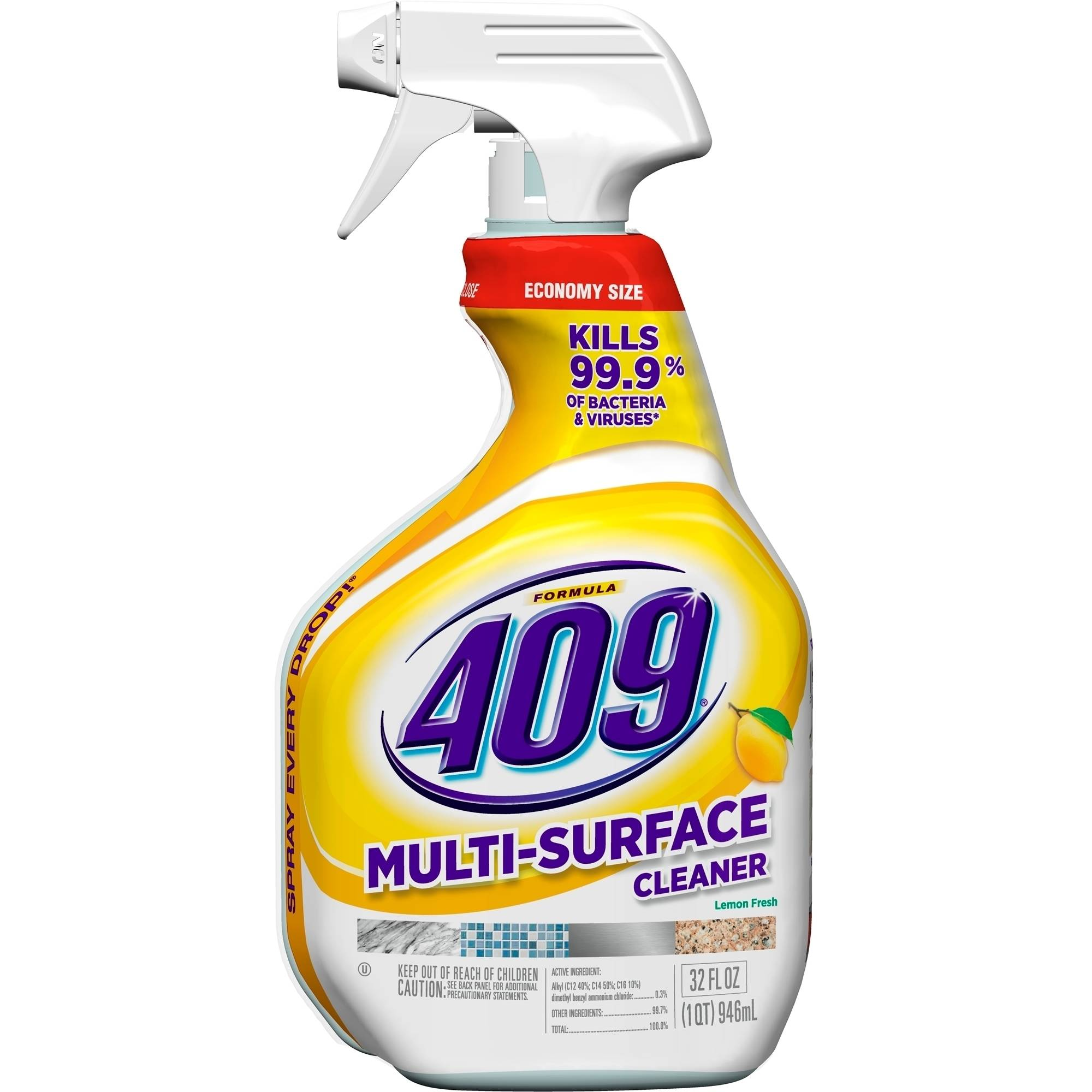 Formula 409 All Purpose Cleaner Spray Bottle, Lemon, 32 Fluid Ounces