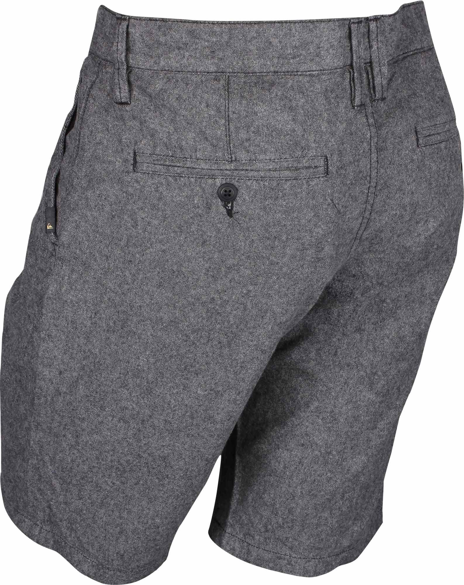 "Quiksilver Mens Krandy Oxford 20/"" Shorts Tarmac Gray"
