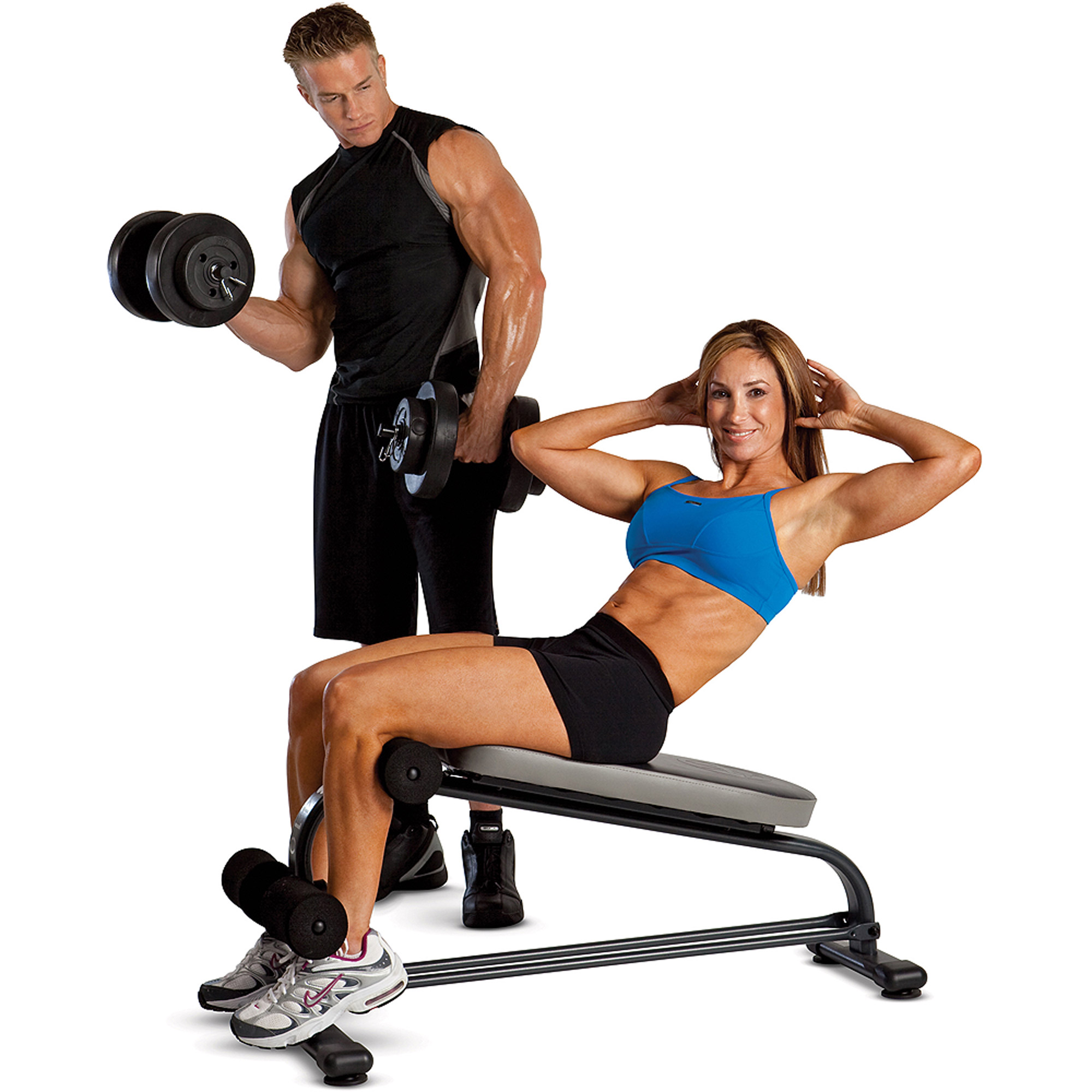 Marcy Crunch Board with 40 lb Dumbbell Set: SB-410 VB-40 by Impex