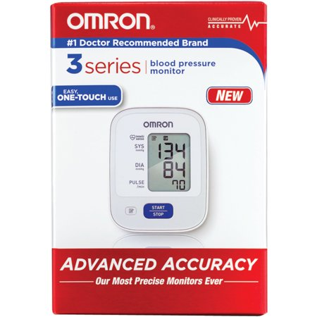 OMRON 3 Series Upper Arm Automatic Blood Pressure Monitor One-Touch
