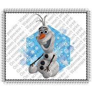 "Frozen-Olaf-Snowflakes Edible Image Cake Topper Decoration Edible Icing Image Cake Topper (8"" Round)"