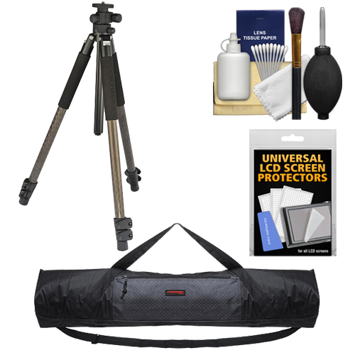 "Giottos YTL 8383 72"" 3-Way Carbon Fiber Tripod with Case + Cleaning & Accessory Kit"