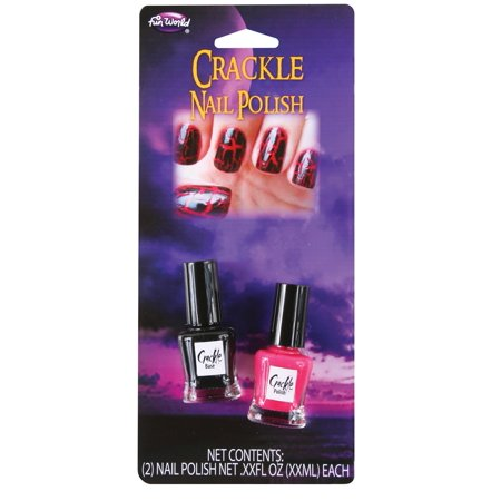 Red & Black Crackle Crackling Shatter Nail Polish Gothic Goth Vampire Punk