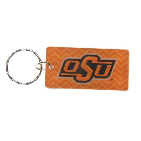 Oklahoma State Cowboys Chevron Printed Acrylic Team Color Logo Keychain - No Size (Oklahoma State Acrylic)