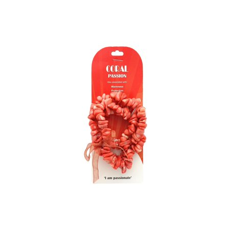 JBE12375 JOHN BEAD SP STRETCH BRACELET DYED BAMBOO CORAL (Dyed Bamboo Coral)