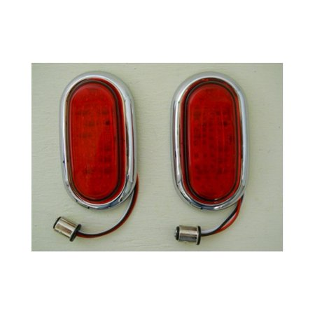 1948 Tail Light ((2) 1942 - 1948 Ford 48 LED Red Stop Turn Brake Tail Lights / 1943 44 45 46)