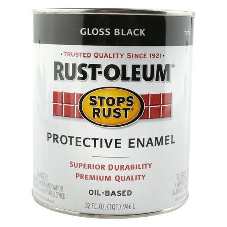 Rust Oleum Protective Enamel Gloss Black 32 fl oz