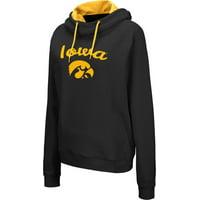 Colosseum Women's Iowa Hawkeyes Louise Pullover Black Sweatshirt