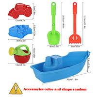 6pc Kids Beach beauty funny toys Set Molds Tools, Sandbox beauty funny toys On Summer Beach Holiday