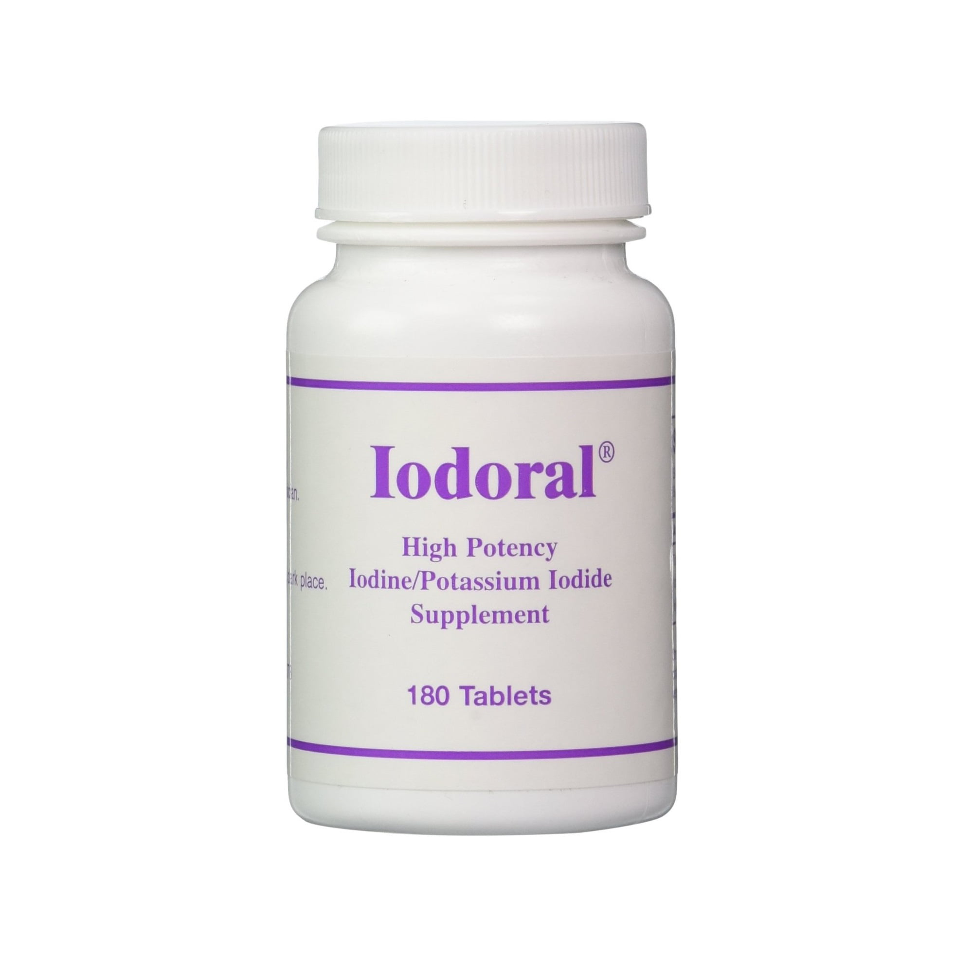 OPTIMOX Iodoral High Potency Iodine Potassium Iodide Thyroid Support Supplement, 180 Count by