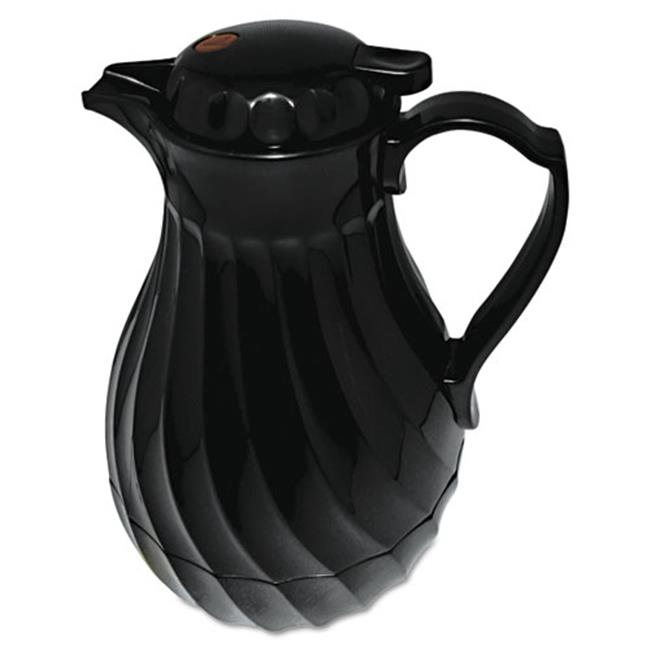 Hormel Corp 402264B Poly Lined Carafe, Swirl Design, 64oz Capacity, Black