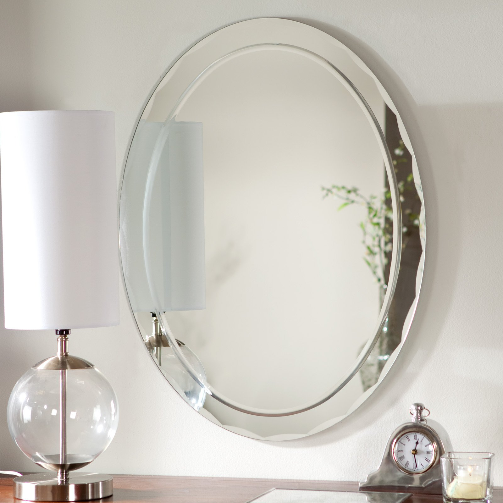 Click here to buy Décor Wonderland Frameless Aldo Wall Mirror 23.5W x 31.5H in. by Decor Wonderland.