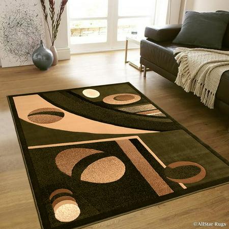 Allstar Green Abstract Modern Area Carpet Rug (7' 10