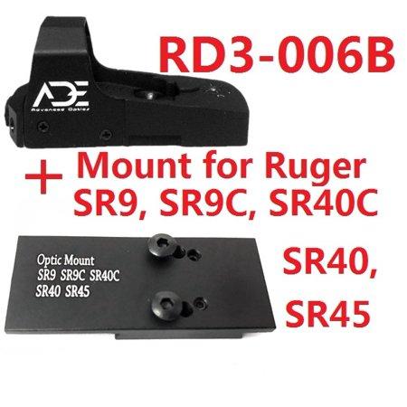 Ade Advanced Optics RD3-006B GREEN Dot Sight for RUGER