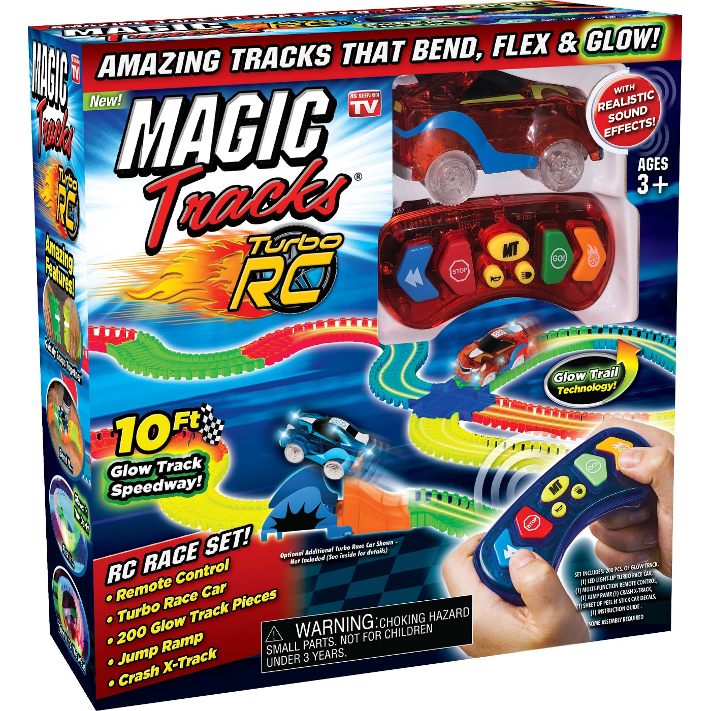 Magic Tracks RC 10ft Racetrack with Remote Control Race Car As Seen on TV