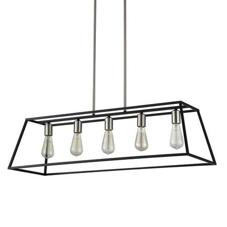 Agnes II Black Linear Transitional Linear Integrated LED Pendant Light