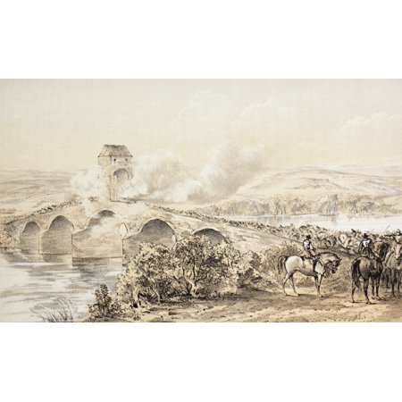 The Battle Of Bothwell Bridge Scotland 22Nd June 1679 From The Scots Worthies According To Howies Second Edition 1781 Published 1879 Canvas Art   Ken Welsh  Design Pics  18 X 11