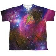 Jla - Flash Galaxy - Youth Short Sleeve Shirt - Small