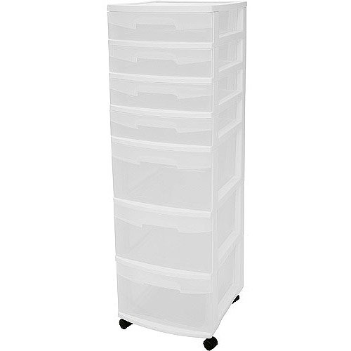 Sterilite 7 Drawer Cart Set Of 2 Walmart Com