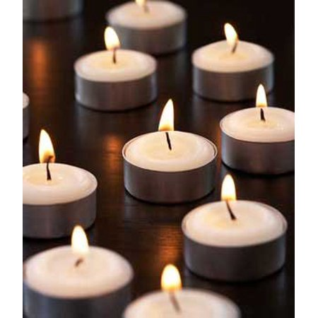 White Unscented Decorative Tealight Candles With Set Of 100 ()