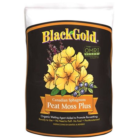 Black Gold Peat Moss Plus  8 Qt