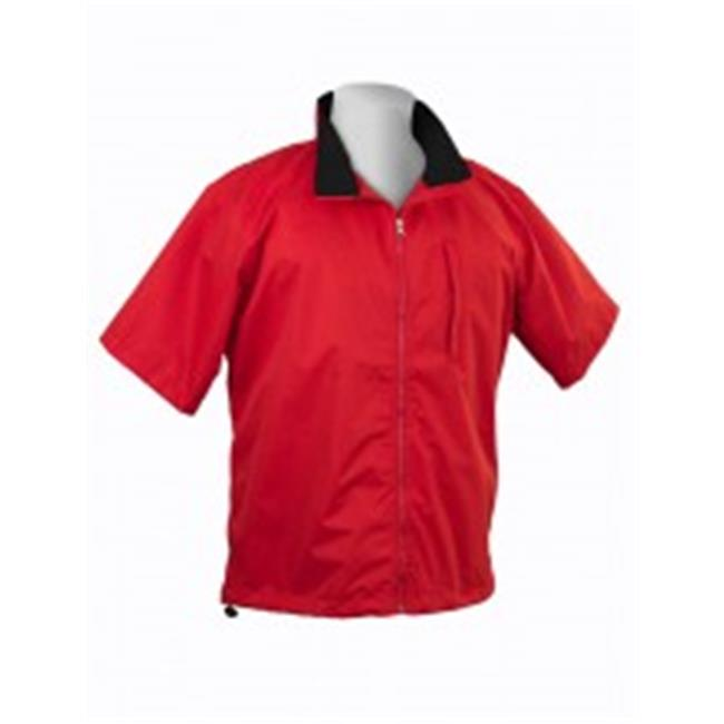 Twac 58017-053-MD Microfiber Womens Short Sleeved Jacket-Red -Md