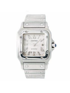 Pre-Owned Cartier Santos Galbee 2319 Steel  Watch (Certified Authentic & Warranty)