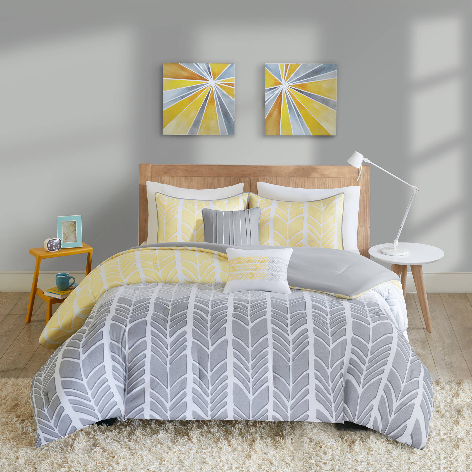 comforter intelligent fabric bedding queen blue teen yellow piece sets set grey bed chevron amazon elise dp skin design peach cheveron full com