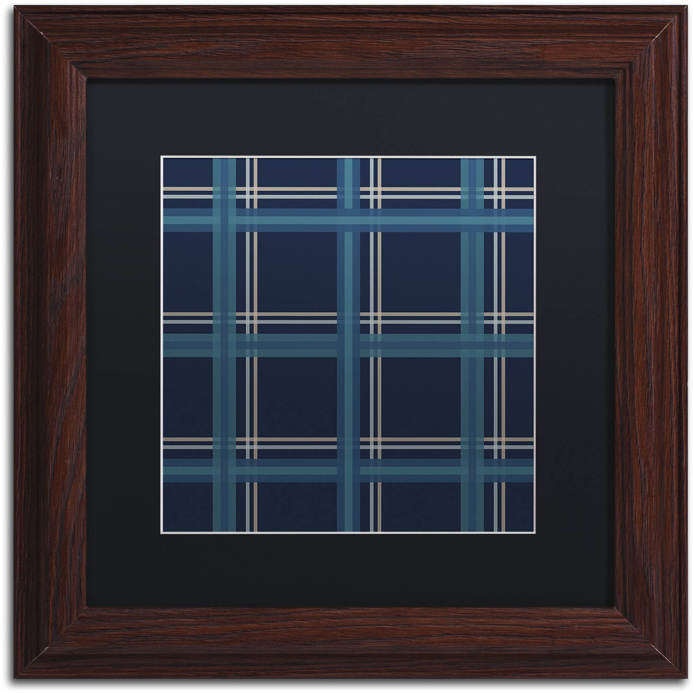 "Trademark Fine Art ""Blue Gold II"" Canvas Art by Jennifer Nilsson, Black Matte, Wood Frame"