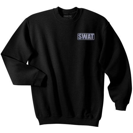 SWAT sweatshirt with REFLECTIVE LOGO, secret agent sweatshirt.