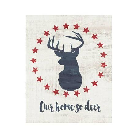 Home So Deer Print Wall Art By Jo Moulton