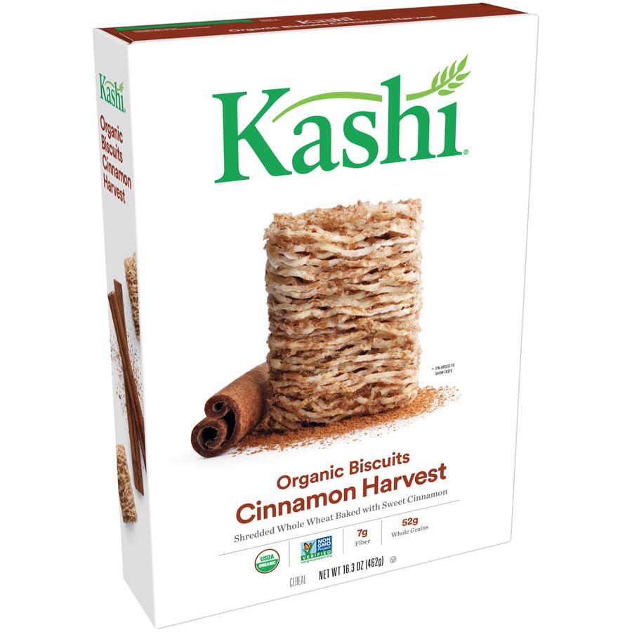 (2 Pack) Kashi Organic Biscuits Breakfast Cereal, Cinnamon Harvest, 16.3 Oz
